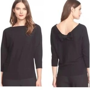 Kate Spade Black Bow Back Sweater